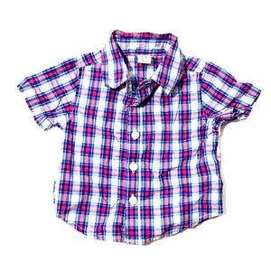 NWOT Short Sleeve Plaid Button Front | Old Navy